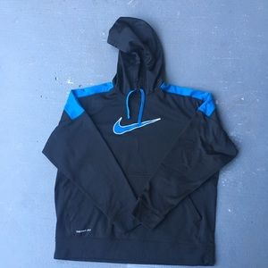 Black and blue nike hoodie
